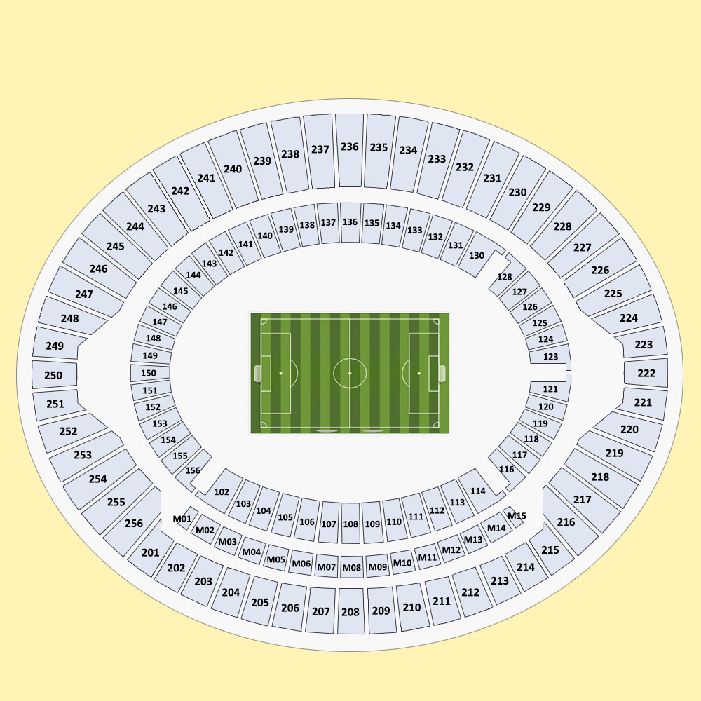 Tottenham Stadium Led Lights: Olympic Stadium Seating Map London